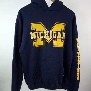 VTG Russell Athletic Michigan Wolverines Hooded L